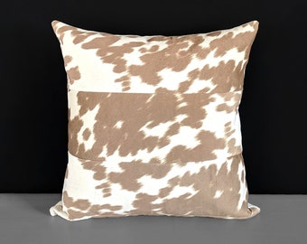 Faux Cow Hide, Light Brown Palomino