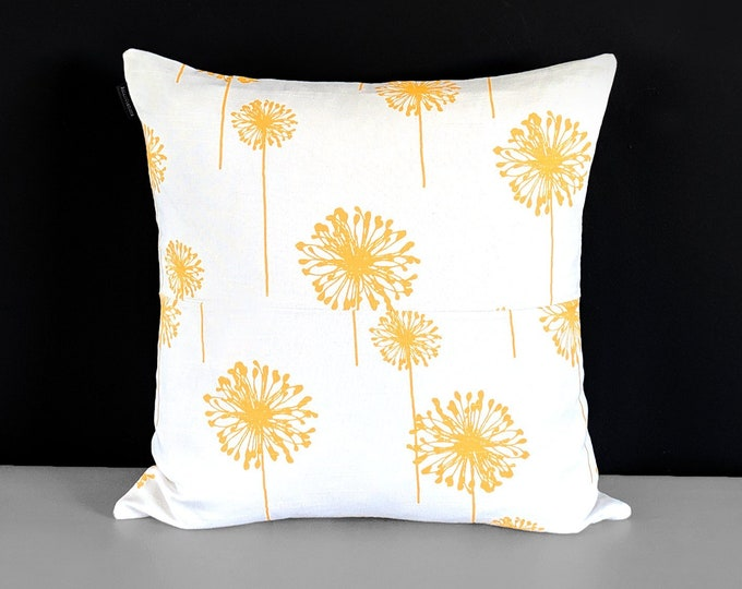 Patchwork Dandelion Yellow Flowers, Pillow Cover