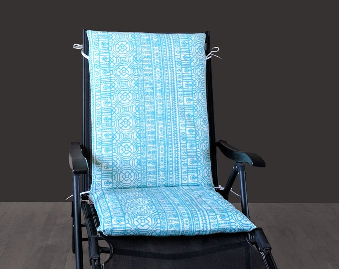 IKEA Back Seat Pad Cover, Blue Outdoor Mexican Print