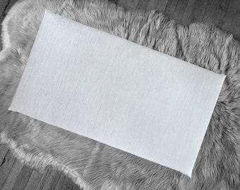 Sunbrella Granite Light Gray IKEA HEMMAHOS Bench Pad Slip Cover, Outdoor