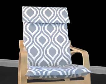 IKEA POÄNG Cushion Slipcover - Emily Grey