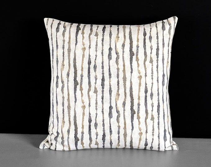 Brown Watercolor Lines Pillow Cover