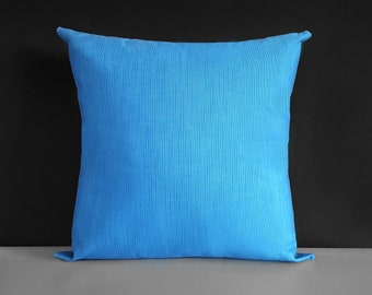 Large Heavy Duty Marine Sunbrella Outdoor Blue Pillow Cover