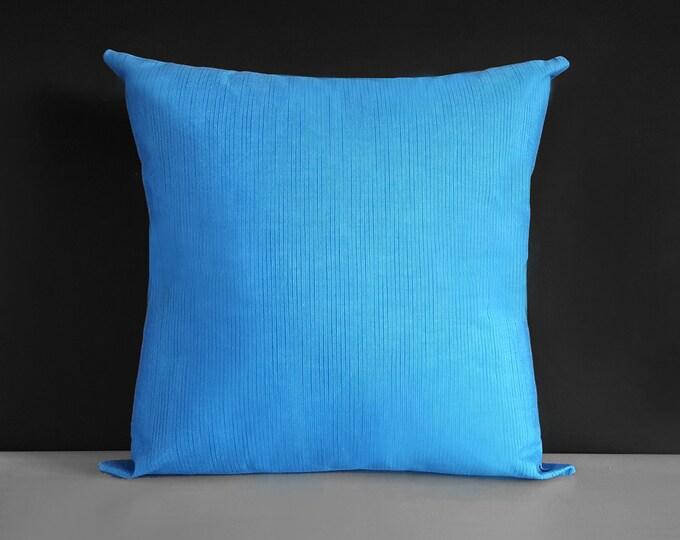 Large Heavy Duty Marine Sunbrella Outdoor Blue Pillow Cover