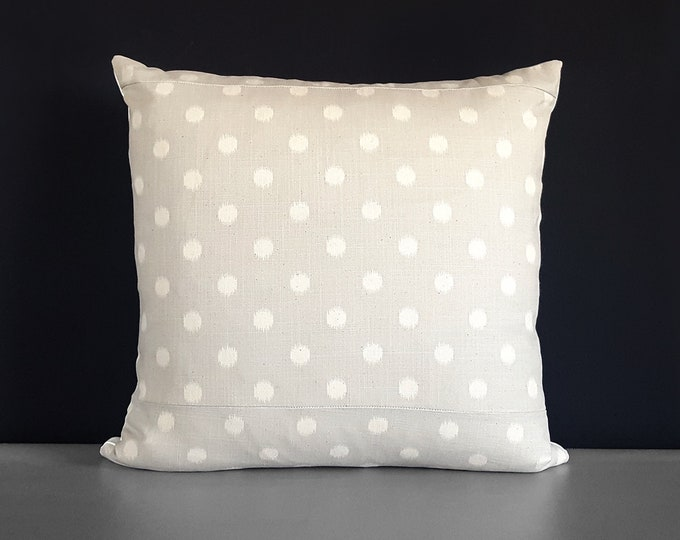 Shabby Chic French Beige Polka Dot Pillow Cover
