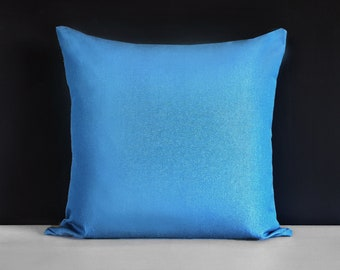 Sunbrella Outdoor Solid Regatta Blue Pillow Cover