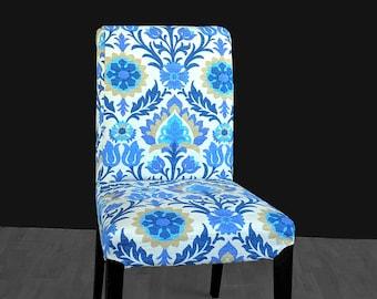 Blue Flower IKEA HENRIKSDAL Chair Cover
