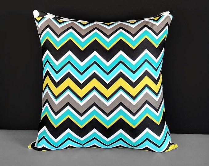 "Colorful Zig Zag Chevron Pillow Covers 20"" x 20"""