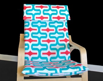 SALE Colorful Retro Funky Ikea POÄNG Chair Cover