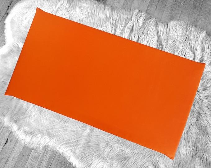 Solid Orange IKEA HEMMAHOS Bench Pad Slip Cover