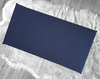 Solid Navy Blue IKEA HEMMAHOS Bench Pad Slip Cover