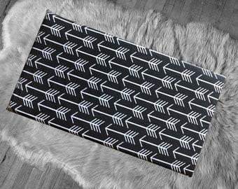 Arrow Print IKEA STUVA Bench Pad Slip Cover, Black White