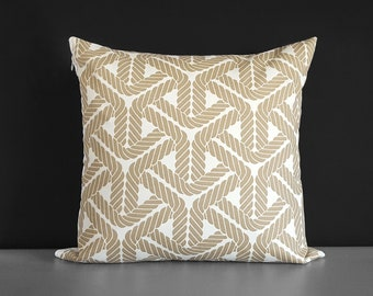 SAMPLE Outdoor Rope Print Beige Pillow Cover
