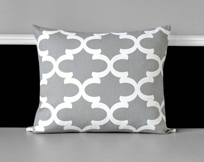 Gray Fynn Indian Pillow Cover