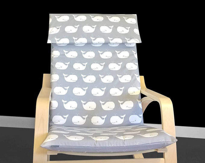 Whale Print Ikea Poang Seat Cover