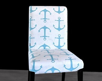 Blue Nautical IKEA HENRIKSDAL Dining Chair Cover, Anchors Henriksdal Seat Cover