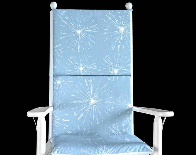 Pastel Blue Sparks Rocking Chair Cushion