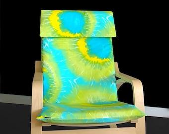 Tie Dye IKEA POÄNG Cushion Slipcover, Summer Print Custom Ikea Covers