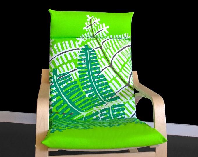 SALE Green Palm Fern Leaf POÄNG Cushion Slipcover