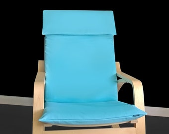 SALE Turquoise Blue Faux Suede Ikea Poang Chair Cover