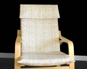 Patterned IKEA POÄNG Cushion Slipcover - Devada Beech Wood