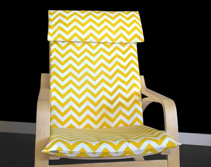 Gold, Dark Yellow Zig Zag IKEA POÄNG Cushion Slipcover