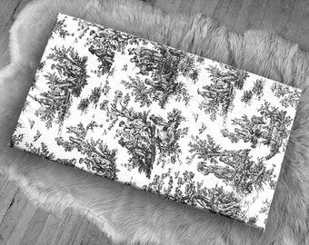 Farmhouse French Toile, IKEA STUVA Bench Pad Slip Cover