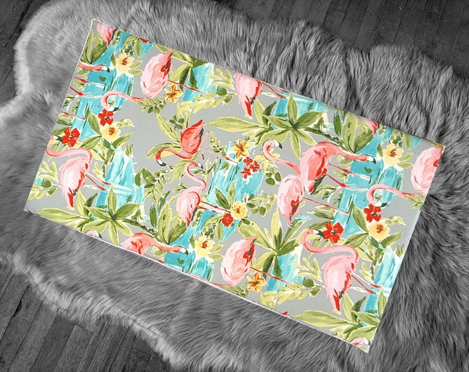 Tropical Retro Flamingo Print IKEA STUVA Bench Pad Slip Cover