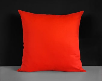 Extra Large Euro Solid Red Pillow Cover