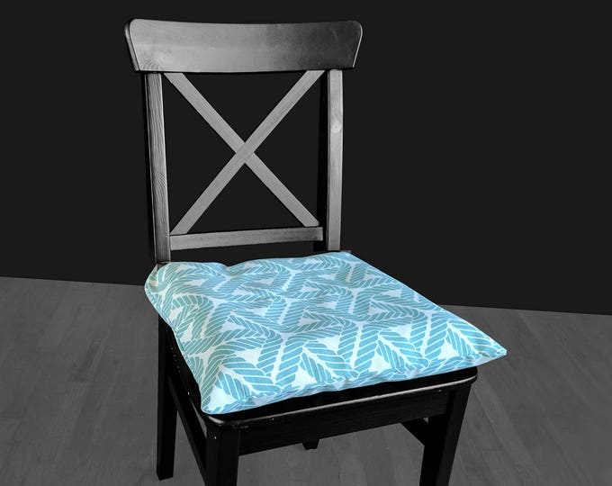 Aqua Blue Rope IKEA MALINDA Chair Pad Cover