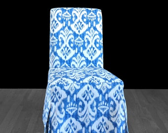 Ikat Indigo Blue IKEA HENRIKSDAL Custom Dining Chair Cover