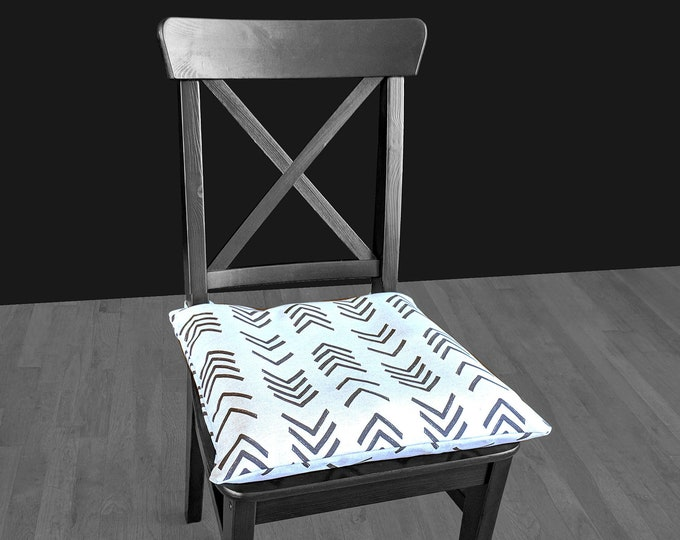 African Mud Cloth Print IKEA MALINDA Chair Pad Cover