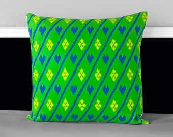 """Ikat Hearts Pillow Covers 18 x 18"""""""