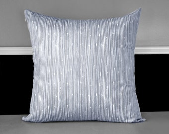 Gray Scribble Lines Pillow Cover