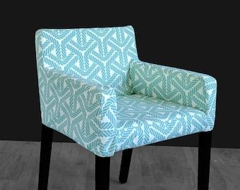 IKEA NILS Chair Slip Cover, Topsail Aqua Blue Nautical Rope, Outdoor