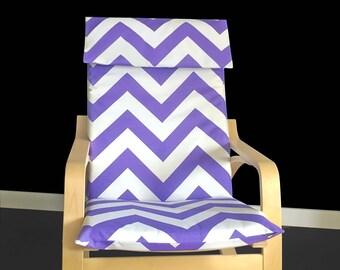 SALE Wide Purple Chevron Ikea Poang Chair Cover