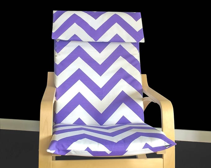 SALE Wide Purple Chevron Ikea Poang Chair Cover