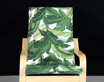 Green Palm Leaves IKEA KIDS POÄNG Cushion Seat Cover