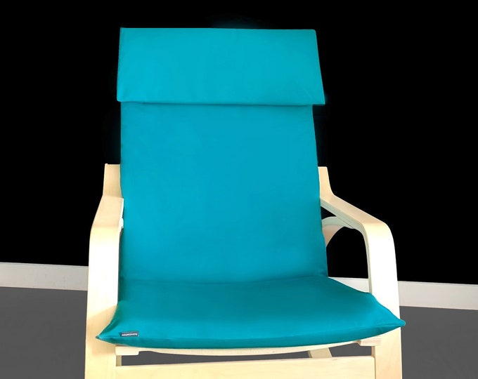 Solid Teal Peacock Blue IKEA POÄNG Chair Cover
