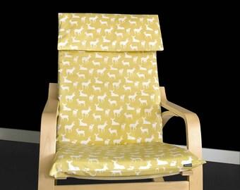 Deer Ikea Covers, IKEA POÄNG Cushion Slipcover - Deer Silhouette Custom Ikea Print