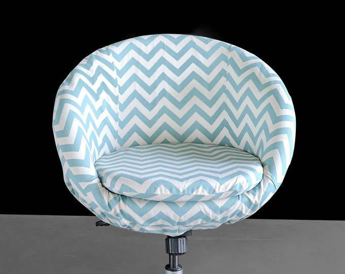 Denim Blue Chevron IKEA SKRUVSTA Chair Slip Cover