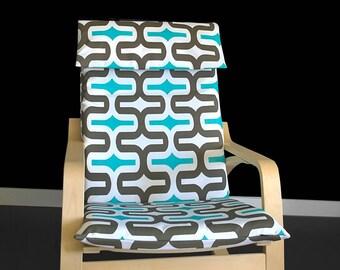 Ikea POÄNG Chair Cover, Ikea Cushion Slipcover - Embrace Ocean