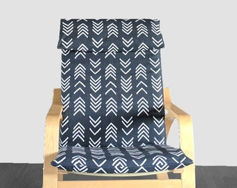 IKEA POÄNG African Mudcloth Black 2019 Cushion Seat Cover