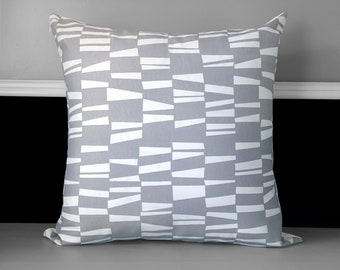Gray Patterned Pillow Covers