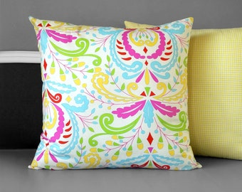 Yellow Floral Pillow Cover