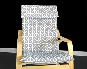 Gray IKEA POÄNG Chair Cover, Aruba
