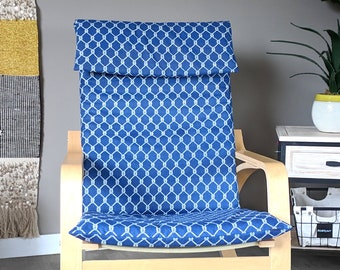 Nautical Navy Square Knots Customized Ikea Poang Seat Cover