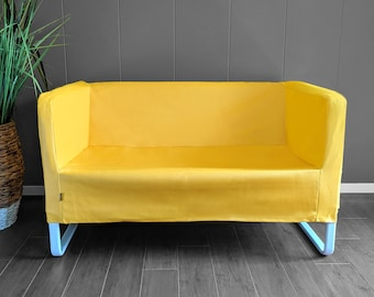 IKEA Sofa KNOPPARP Slip Cover, Wipeable Vinyl Yellow
