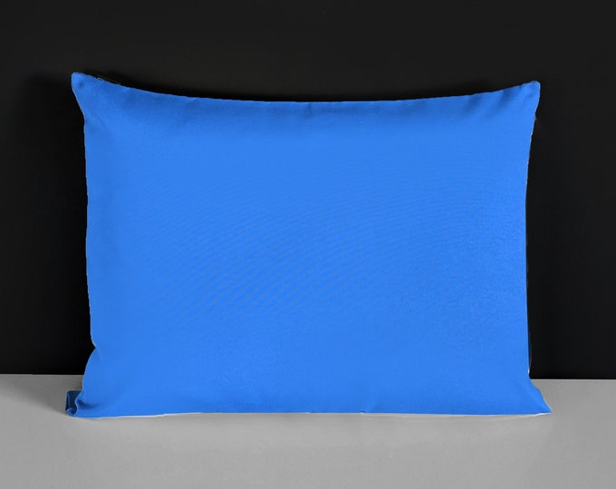 Outdoor Rectangle Royal Blue Pillow Cover, Lounge