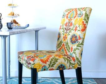 Colorful Flower IKEA HENRIKSDAL Chair Cover, Santa Maria Adobe